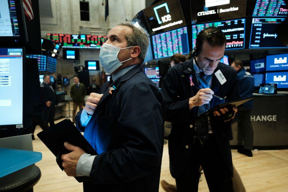 Stock market news live updates: Stocks retreat from record highs, tech stocks sink